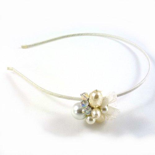 rougecaramel–Invernadero cabeza/Headband Joli diseño perla–marfil