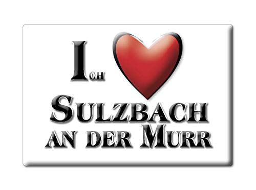 Enjoymagnets Sulzbach AN DER Murr (BW) Souvenir Deutschland Baden WÜRTTEMBERG Fridge Magnet KÜHLSCHRANK Magnet ICH Liebe I Love