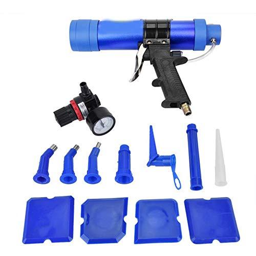 LWQ Profesional Pistola para calafatear, Ajustable de Cristal neumático Pegamento sellador Pistola...