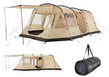 Grand Canyon DOLOMITI 6 - tente tunnel pour 6 personnes   tente famille/groupe avec deux zones de couchage   Désert de Mojave (beige)