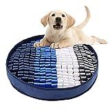 Victarvos Schnüffelteppich Hund, Hundespielzeug Intelligenz Waschbar, Interaktives Hundespielzeug, rutschfest Intelligenzspielzeug für Hunde mit 3 Saugnäpf, 48 * 48 cm