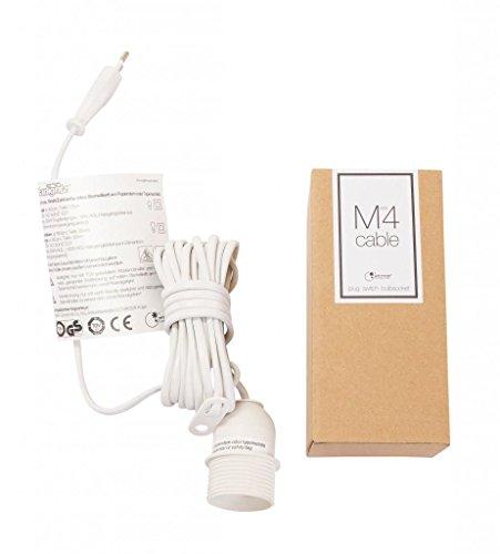 Zubehör für Papiersterne - weiß, inkl. Kabel, Steck