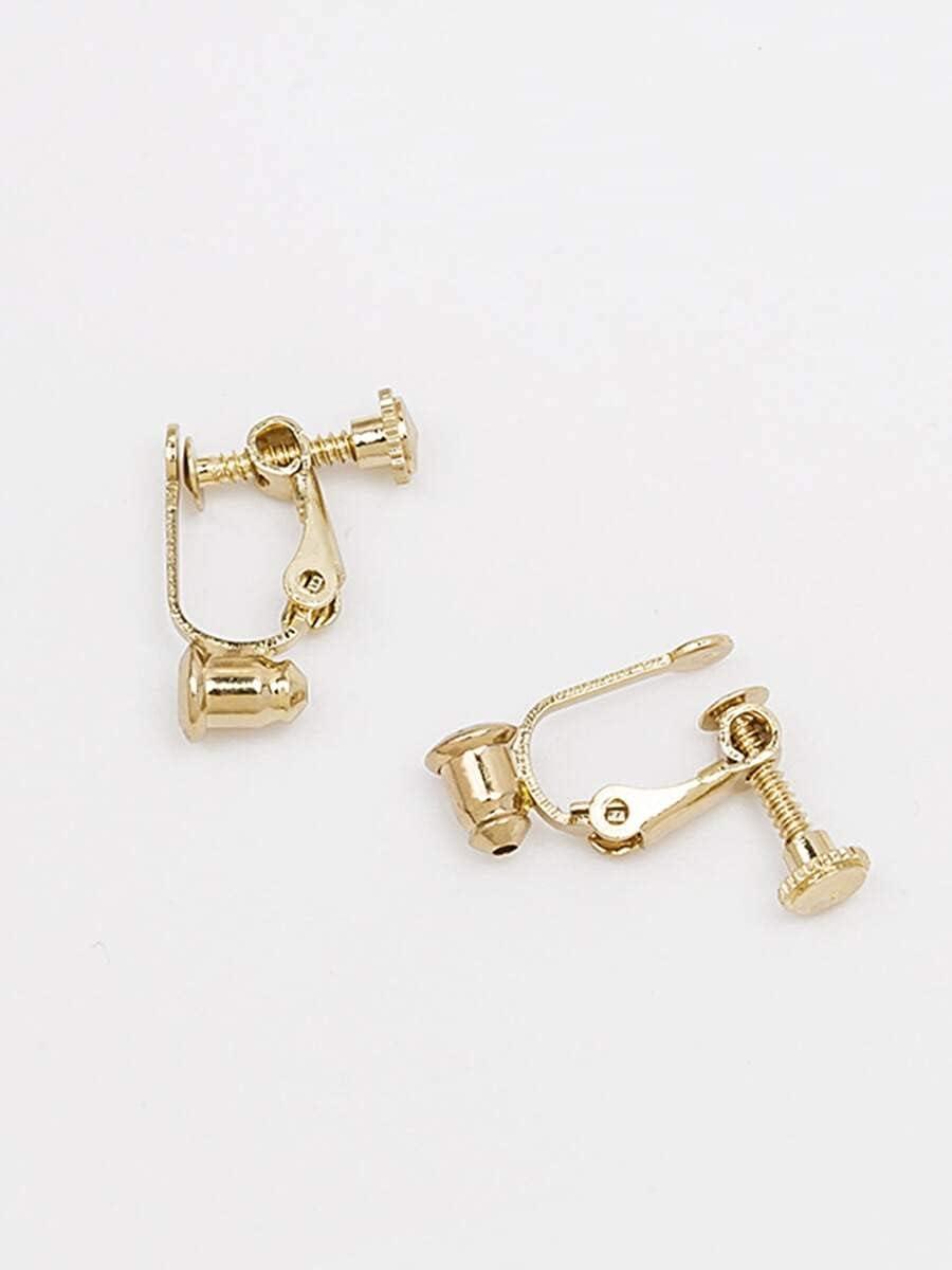ANBF Hoop Earrings 2pairs Clip On Earring Converters (Color : Multicolor)