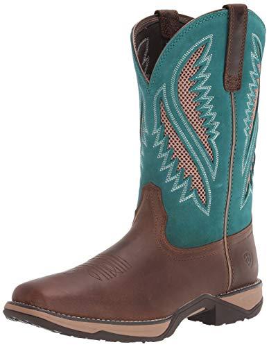 ARIAT womens Anthem Venttek Western Boot, Chocolate Chip, 10.5 Wide US