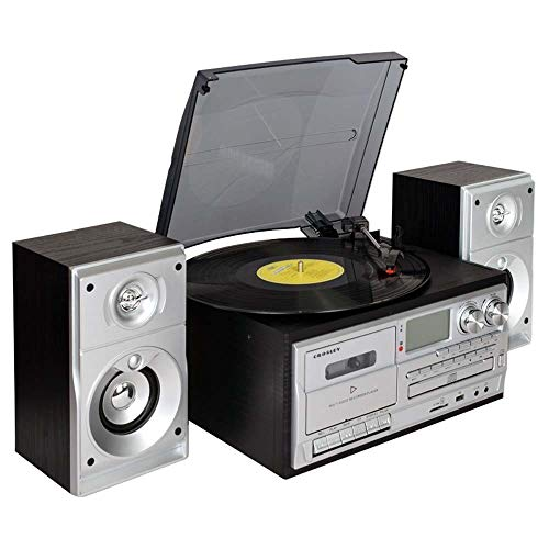 W.Z.H.H.H Crafts Vinyl Record Machine Modern Home Salon de Style européen Radio Bande Lecteur CD stéréo Bluetooth 31,7 * 27,2 * 15.5cm Décorations Accueil