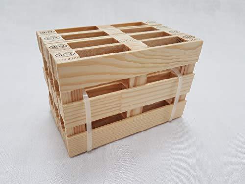 miniPallet - Set di 4 sottobicchieri, sottobicchieri a Forma di Pallet, in Legno