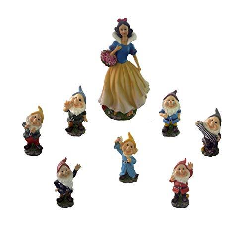I.T.S. Group Figuren Schneewittchen und die 7 Gartenzwerge aus Polyresin, robust und langlebig