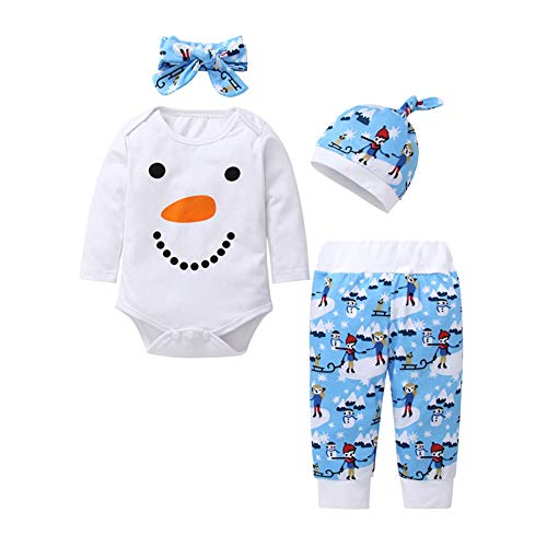 Unisex baby outfits set lange mouwen cartoon maan patroon strampers tops broek leggings hoed outfit kleding set 70cm