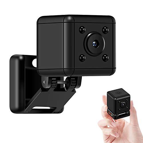 Mini Camera Small Car Cam Tinny Portable Camcorder Cube Cop Pet Camera Indoor Outdoor Sucurity Camera Security Infrared Motion Activated Loop Recording 1080 Camera Home Nanny Camera (NO Wi-Fi)