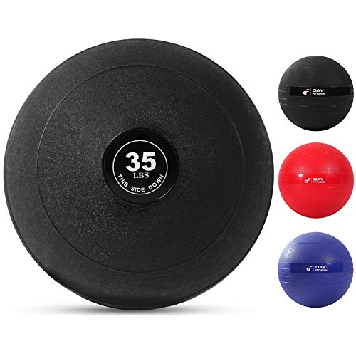 Weighted Slam Ball by Day 1 Fitness – 35 lbs - No Bounce Medicine Ball - Gym Equipment Accessories for High Intensity Exercise, Functional Strength Training, Cardio, CrossFit