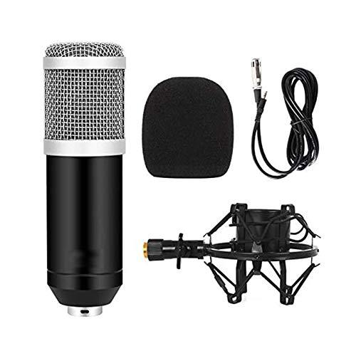 Zidao La grabación del micrófono, Plug and Play Mini micrófono con Eco Fuerte Canto del Karaoke del teléfono podcasting Radiodifusión grabación del micrófono Tarjeta de Sonido USB,Plata