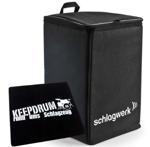 Schlagwerk TA-12 Rucksack-Tasche für Cajon + keepdrum Pad Sitzauflage