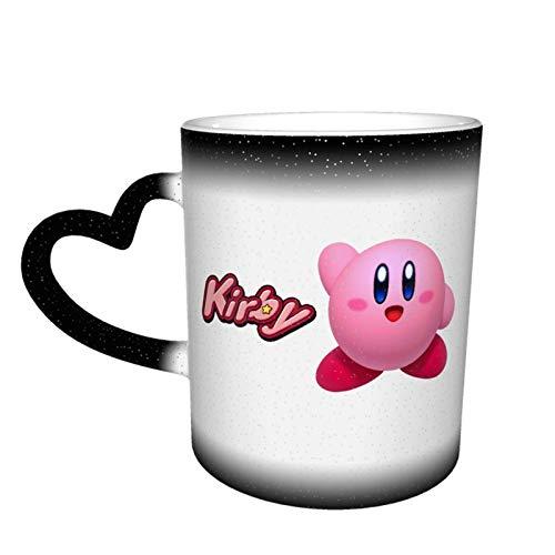 Hdadwy Ki-rb_y Tazas de café de cerámica, estampado de patrones personalizados Taza mágica Taza de café sensible al calor que cambia de color Taza de té con leche Regalos personalizados para amantes d