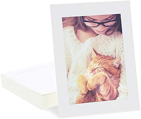 Cardboard Photo Picture Frame Kraft Paper Easel White 5 x 7 In 30 Pack product image