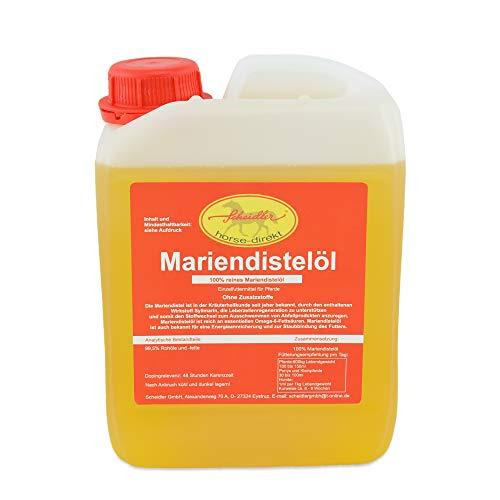Scheidler horse-direkt Mariendistelöl 2,5L für Pferde, Hunde & Katzen – Natürliche Nahrungsergänzung & kaltgepresst – Reich an Omega 6 und Vitamin E