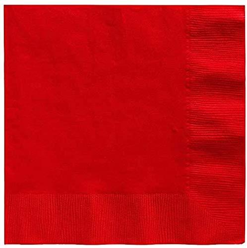 Serviettes rouges