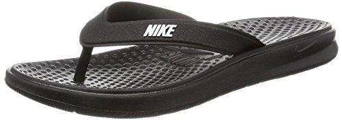 Nike Women's Solay Thong Flip-Flop, Black/White, 7 Regular US