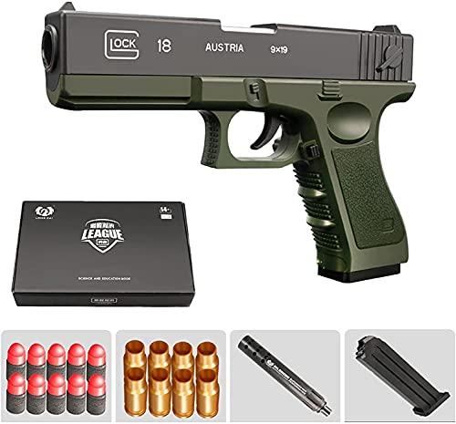 ZJIEX Pistola de Juguete de Bala Suave clásica Glock & M1911, Pistola de Bala Suave automática, Pistola de Juguete interactiva Entre Padres e Hijos,Pistolas de Juguete para niños de tamaño 1: 1