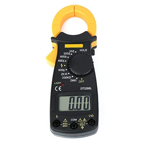 Multimetro Digitale , ANENG Pinza Amperometrica DT3266L Clampometro Digitale AC   DC Corrente di Tensione Clamp Meter Resistenza Capacità - 1999 Cifre LCD Display