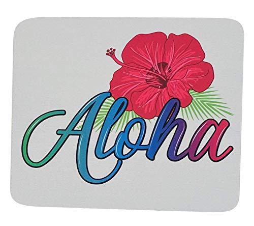 Aloha Mouse Pad Mousepad Tropical Flower Print Mouse Mat Mouse Pad Office Mousemat Rectangular Mousemat Hawaii Hawaiian Tropical Hibiscus Print Mousepad