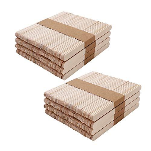 JZK 400 x Stecchini bastoncini legno per ghiaccioli gelato cake pops lecca lecca bastoni stecchi legno per lavoretti creativi per bambini, etichette piante legno
