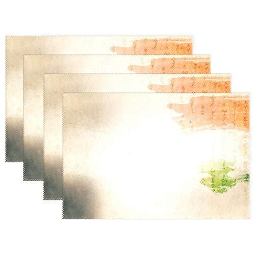 Promini manteles Individuales Resistentes al Calor, Papel de Textura Tricolor, Color Amarillo,...