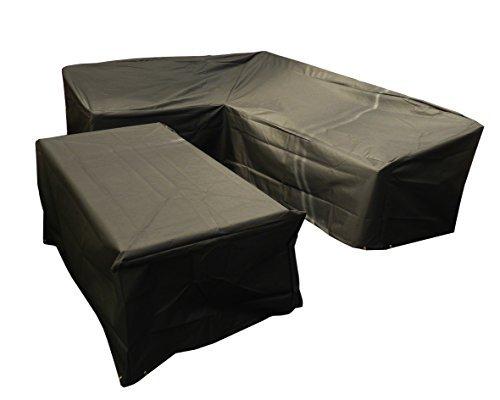 Bosmere Protector 6000 Modular L Shape Dining Set Cover, Right Side Long, Medium - Black, M667