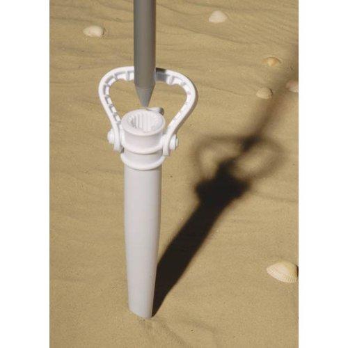 Sonnenschirmständer Kunststoff / Erdspieß / Sonnenschirm Ständer Halter zum Eindrehen, inkl. Griff, BE-90904