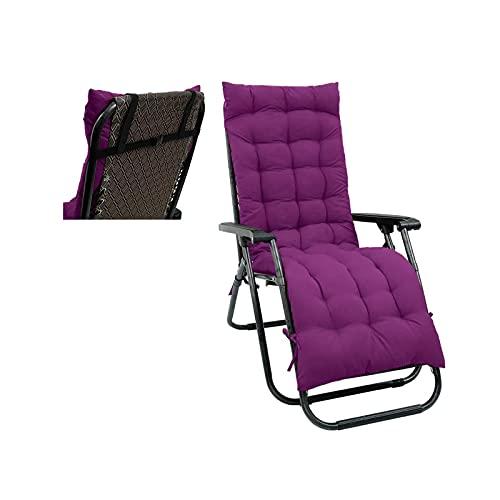 MIDOU Patio Jardin Cojin De Asiento Grueso Suave Cojines para Tumbonas Algodón cojín para Tumbona,para jardín, Patio, reclinable, Relajante, para sofá, Asiento-Purple||48 * 168CM
