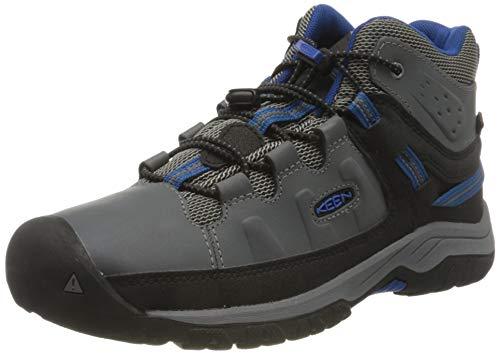 KEEN Unisex dziecięce buty trekkingowe Targhee Mid Wp, szary - Steel Grey Baleine Blue - 36 EU