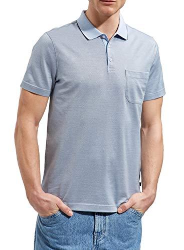 Maerz Muenchen Shirt Polohemd, Knopf 1/2 Arm, blau(diamondsky (340)), Gr. 54