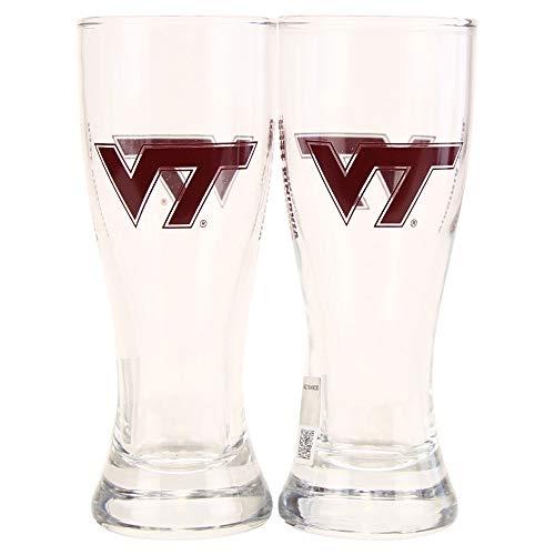 NCAA'Elite' Team Logo 2.5 oz Cordial Shot Glass 2-Pack, Pilsner (Virginia Tech Hokies)