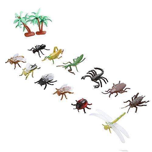 XINL Juguete de Insectos Seguro y ecológico, Juego de Juguetes de Modelo de Insectos, plástico no...