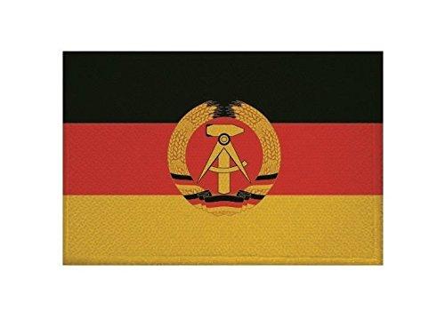 U24 Aufnäher DDR Fahne Flagge Aufbügler Patch 9 x 6 cm