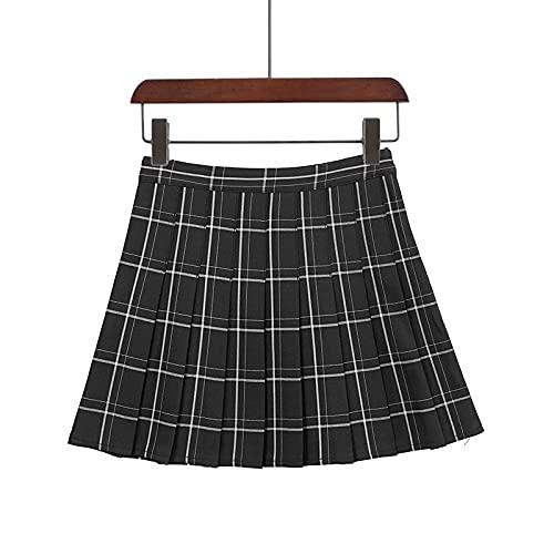 Secuos Falda Mujer Falda A Cuadros para Mujer, Moda De Verano, Minifalda Plisada, Estilo Kawaii, Estilo...