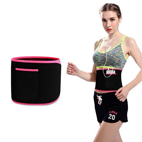 Bioasis Faja Reductora Adelgazante Waist Trimmer Belt Cinturón de Sudoración Neopreno, Cintura para Sudar de Fitness, Acelera la Pérdida de Peso, Quema Grasa, Efecto Sauna, Mujer 🔥