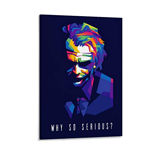 WHY SO SERIOUS Joker Character Color Art Poster Canvas Art Poster and Wall Art Picture Print Modern Family Bedroom Decor Posters 24x36inch(60x90cm)