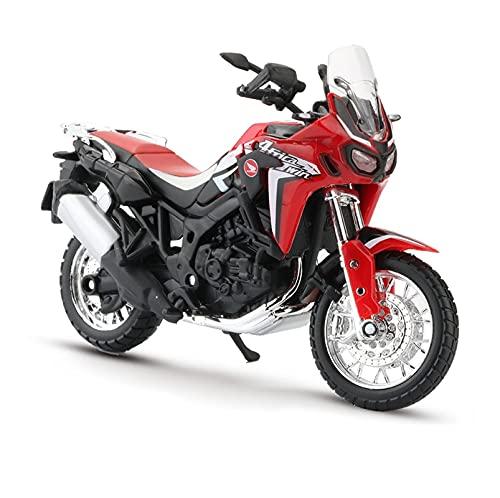 El Maquetas Coche Motocross Fantastico 1:18 para Honda África Doble DCT CRF1000L Simulación Aleación Modelo Motocicleta Colección Decoración Regalo Coche De Juguete Regalos Juegos Mas Vendidos