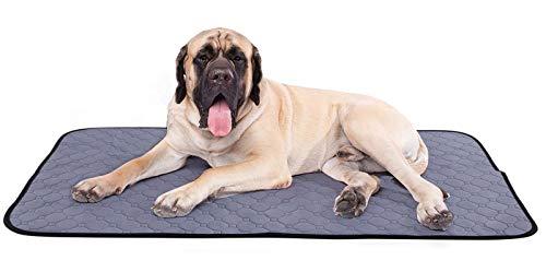 Pecute Haustier Pee Pad (2 STK) Hygieneunterlagen für Hunde Waschbares Wiederverwendbares 4-Schicht-Struktur Starke Wasseraufnahme Auslaufsicher rutschfest, für Katzen und Hund, Größe XL (140*100cm)