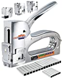 Staple Gun for Wood Heavy Duty - TREK TOOLBOX 3 Functions in 1 Upholstery Staple Gun - Fabric Paper Wall & Wire Stapler - Staple Gun for Crafts - Works with Arrow T50 & JT21 Staples