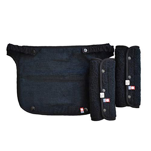 今治タオル 抱っこ紐 よだれカバー + マルチ胸カバー (ブラック)