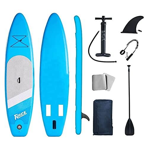 LNIBA Tabla de Surf de Remo, Tabla de Surf Inflable de Pie, Paddle Surf-Tablas de Paddle Surf Hinchable, para Todo Tipo de Viajes con Bolsa de Almacenamiento, Paletas, Aleta