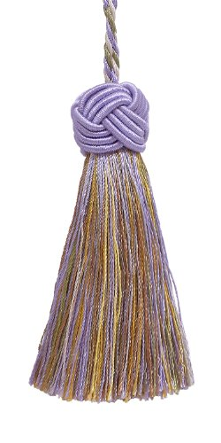 Decorative 89mm Tassel / Lilac Gold / Baroque Collection Style# BTS Color: WINTER LILAC - 8426