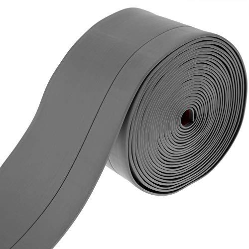 PrimeMatik - Rodapié Flexible Autoadhesivo 50 x 20 mm. Longitud 5 m Gris