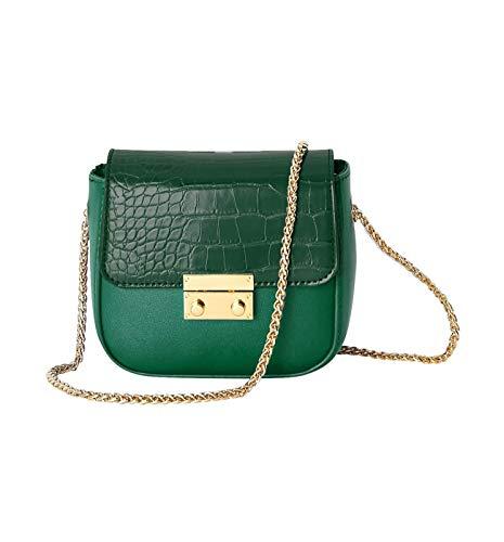 Promod Kleine Tasche in Kroko-Optik Grün One size