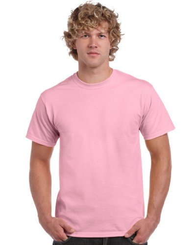 Gildan Men's Heavy Cotton Tee T-Shirt, Pink (Light Pink), Larg