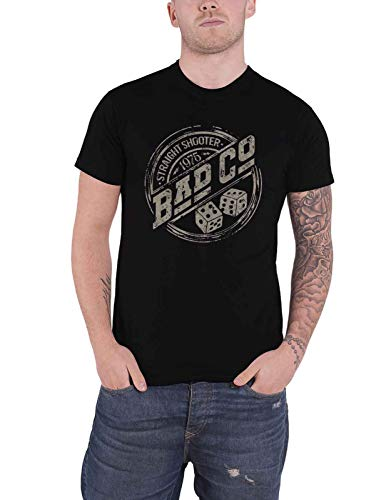 Bad Company T Shirt Straight Shooter Roundel Band Logo Nue offiziell Herren