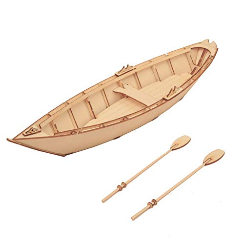 3D Wooden Puzzle Dory Boat Craft, Fishing Boat Puzzle Model kit, Customize Coloring Available