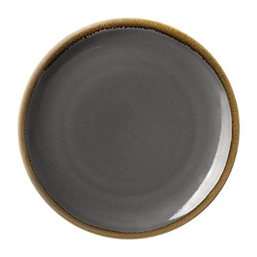Olympia Lot de 4 assiettes rondes en verre de 280 mm
