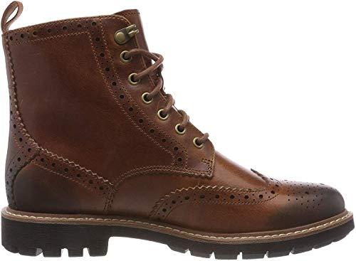 Clarks Men's Batcombe Lord Chelsea Boots, Braun (Dark Tan Leather), 45 EU